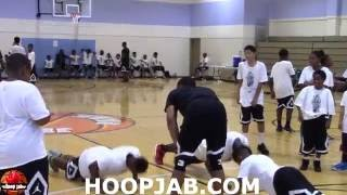 Funny! Russell Westbrook Makes Campers Drop & Do 25 Push-Ups! HoopJab
