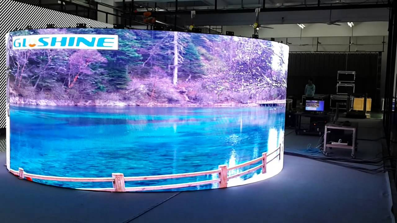 Curve Column Led Display Stage Video Wall Youtube