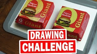 Drawing Challenge: Fake Box to Play Prank at Fast Food