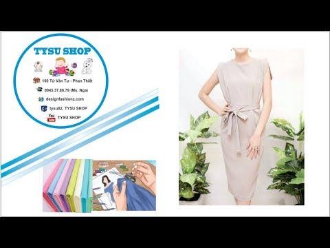 148-Thiết kế đầm tay liền |dạy cắt may online miễn phí | sewing online class free | tysushop