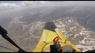 CLOUD BASE 3600m on Mountain lake! Paragliding in Turkey.