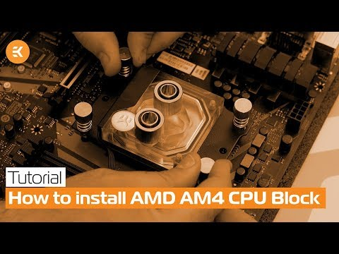 Installing the EK-Supremacy Classic CPU Block on AMD Socket AM4