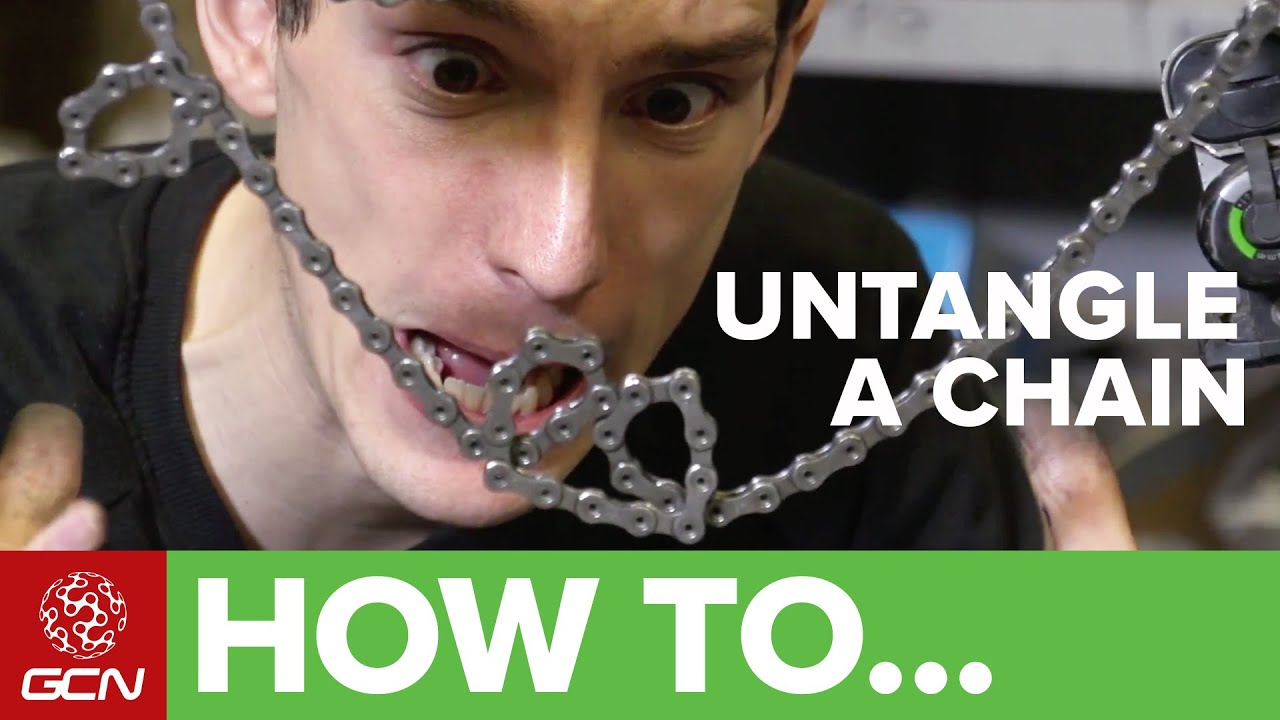 How to untangle a bike chain youtube how to untangle a bike chain greentooth Images