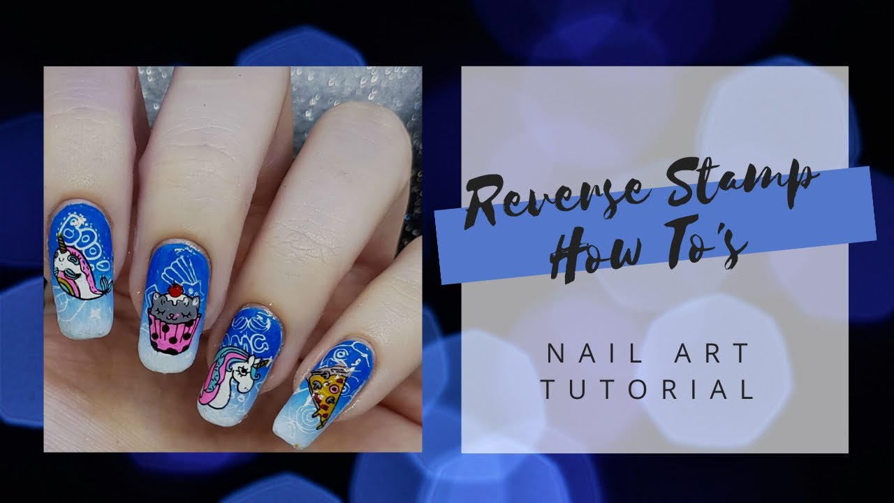 How To: Reverse Stamp With a Nail Art Mat! Nail Art Tutorial - YouTube