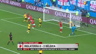 Tercer lugar: Inglaterra 0 - 2 Bélgica