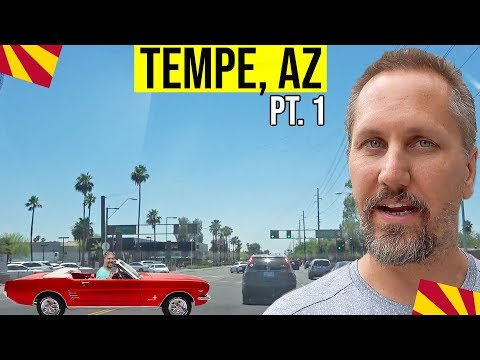 Tempe, Arizona Tour: Moving / Living In Phoenix, Arizona Suburbs (Tempe, AZ) (Pt. 1)