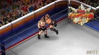 Fire Pro Wrestling World - Randy Orton vs. Brock Lesnar