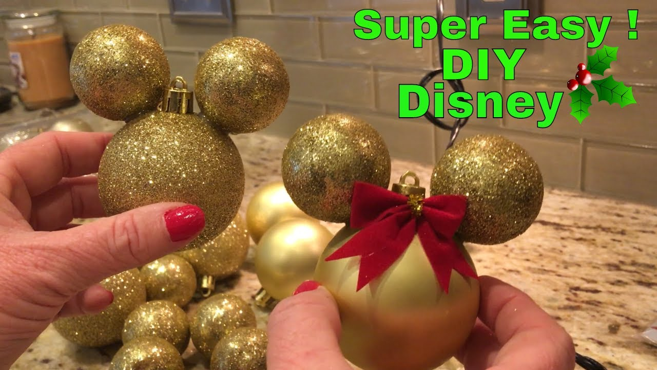 Super Easy Diy Mickey And Mini Mouse Inspired Christmas Ornaments Dollar Tree