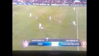 manchester united vs cfr cluj 2 1 02 10 12