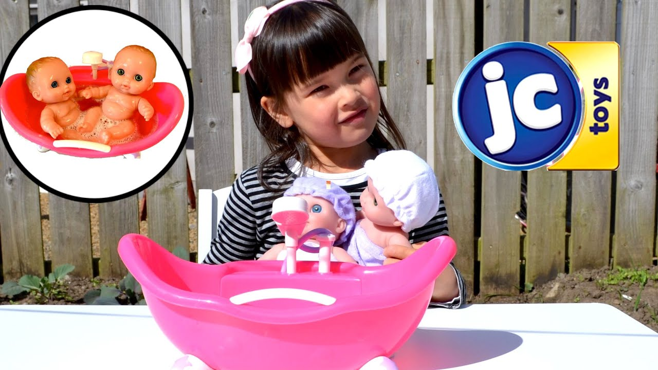 Twin Baby Dolls Bath Time Fun - Lil\' Cutesies Dolls Bathtub How to ...