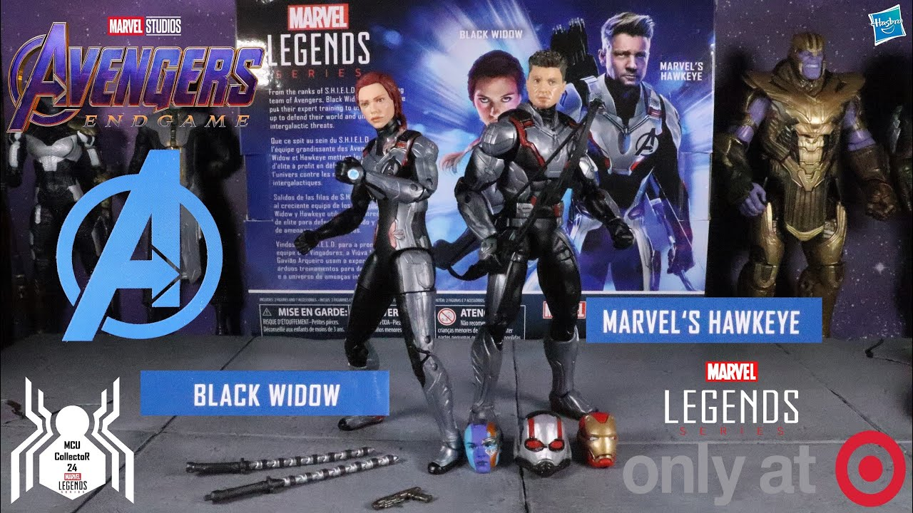 MARVEL LEGENDS AVENGERS ENDGAME HAWKEYE /& BLACK WIDOW 2 PACK TARGET EXCLUSIVE!!