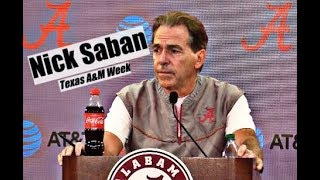 Alabama Crimson Tide Football: Nick Saban comments before Texas A&M