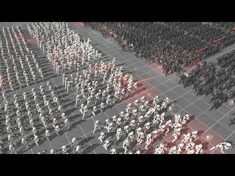 STORMTROOPERS vs SHADOW TROOPERS - Star Wars: Galaxy at War MOD