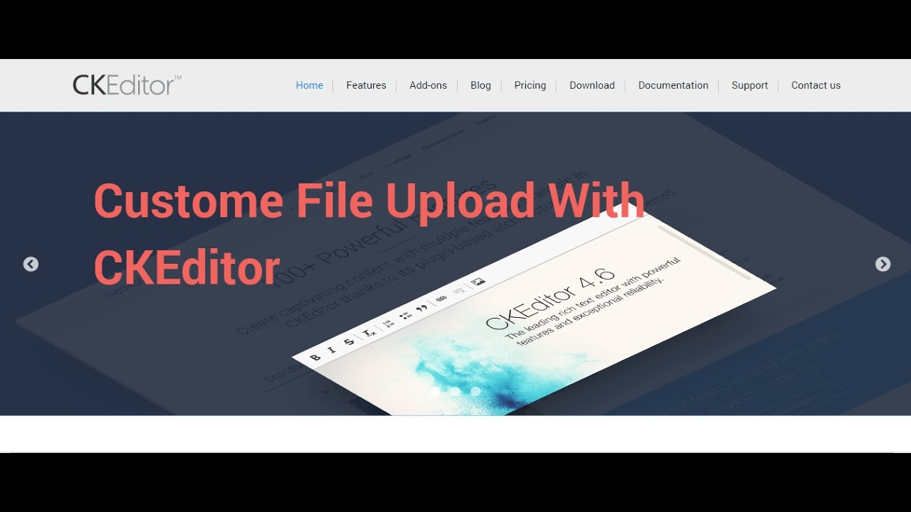 custom file upload in CKeditor