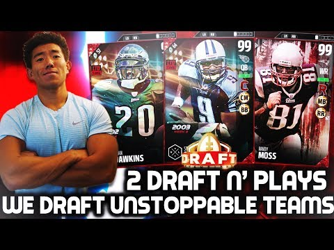 TWO AMAZING DRAFTS! 2 DRAFT N' PLAYS! MADDEN 17 DRAFT CHAMPIONS