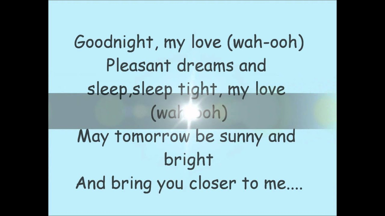 paul anka goodnight my love with lyrics