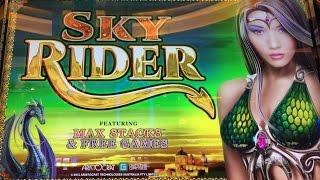 Handpay- Sky Rider Slot Machine-Bonus-Dollar Slot-BIG WIN!