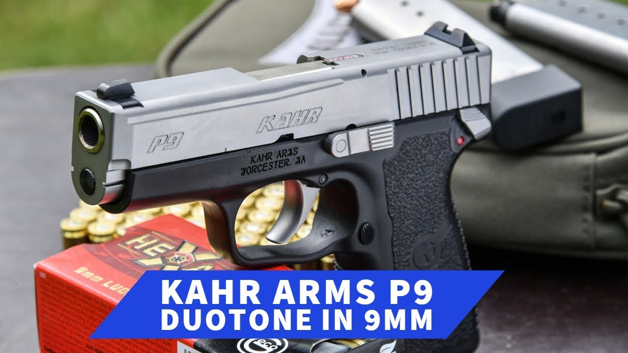 Kahr Arms P9 DuoTone in 9 mm: the compact pistol at the shooting range