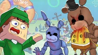 BOB ESPONJA VS APOCALIPSE DE ANIMATRONICS FIVE NIGHTS AT FREDDY'S NO MINECRAFT! SOBREVIVEMOS ? thumbnail