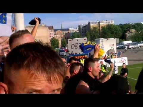 Latvia - Bosna i Hercegovina 07.06.2013 Zastave se nase viju BH Fanaticos