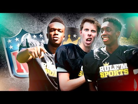 AMERICAN FOOTBALL IS HERE! w KSI, MANNY & CALFREEZY | Rule