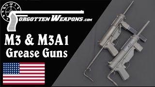 M3 and M3A1 Gręase Gun SMGs