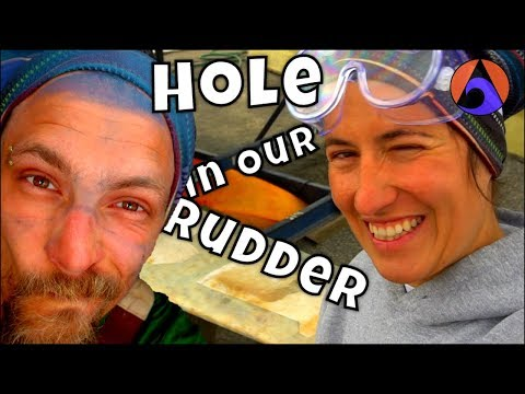 DIY Sailboat Rudder - Making Holes in Rudder (Part 1) [Ep10]