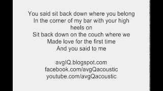 you and i lady gaga acoustic guitar instrumental w lyrics backing track karaoke