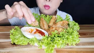 ASMR SPRING ROLLS, FRIED DUMPLINGS (ASMR Eating Sounds)
