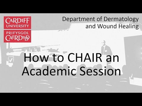 How to CHAIR an academic session