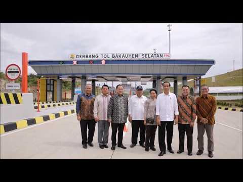Diresmikan Presiden Jokowi Dan Gubernur M.Ridho Ficardo, Kini Lampung Punya Jalan Tol