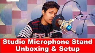Wright Professional Microphone Stand & Pop Filter Unboxing and Setup | Mic Stand Unboxing