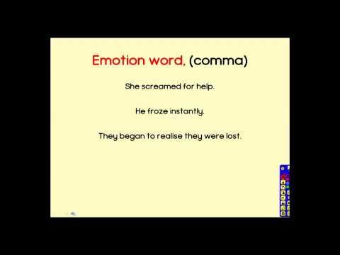 Emotion Word Comma Sentences Youtube