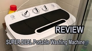 SUPER DEAL Portable Washing Machine Review 2019 | Great Mini Washer