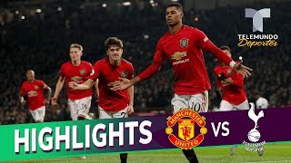 Manchester United vs. Tottenham: 2-1 Goals & Highlights | Telemundo Deportes