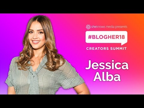 Jessica Alba Closing Keynote - #BlogHer18