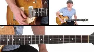 Blues Guitar Lesson - Affordable Shuffle Solo - Breakdown - Jeff McErlain