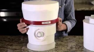 Nutrimill Plus grain mill set up demonstration
