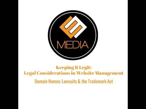 Domain Name Lawsuits & the Trademark Act