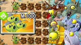 Plants vs Zombies 2 - Tripitidora Nivel 1000 vs Todos los Zombot