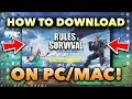How to download Rules Of Survival Pc ROS PC