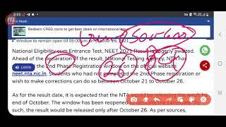 NEET Cutoff 2021 ,NEET result 2021 ,NEET exam 2021 latest News, Neet result news ,Neet latest Update