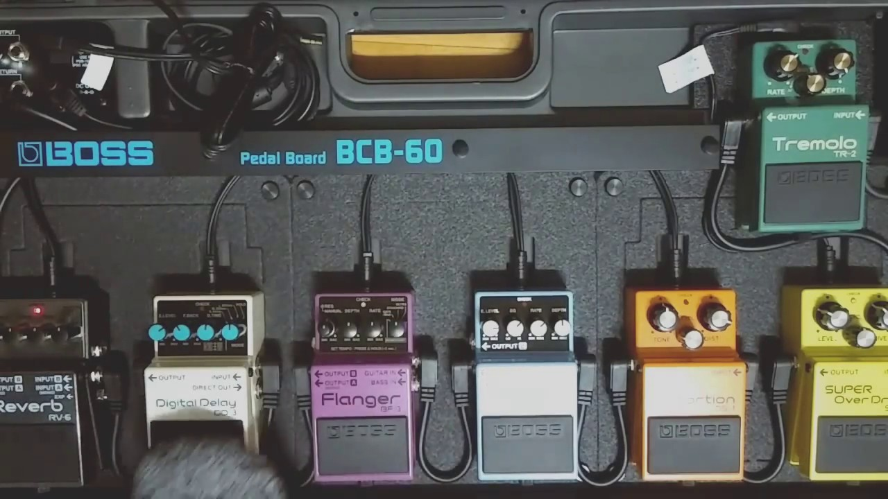 boss bcb 60 pedal board youtube. Black Bedroom Furniture Sets. Home Design Ideas