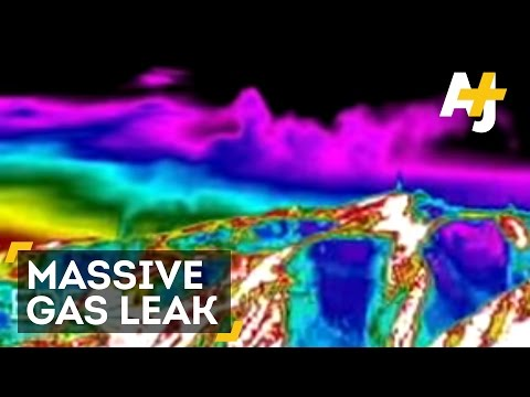 Massive Methane Gas Leak Near Los Angeles On Infrared Camera
