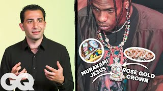 Jewelry Expert Critiques Travis Scott's Jewelry Collection | GQ