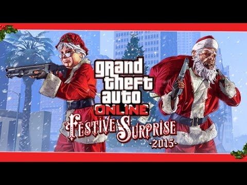 GTA V online christmas madness festive surpise Merry xmass (PS4)