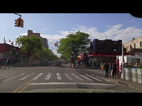 Driving by Jackson Heights Queens,New York