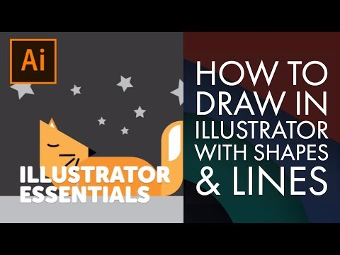 How To Draw In Illustrator With Shapes & Lines - Adobe Illustrator CC 2018 [4/39]