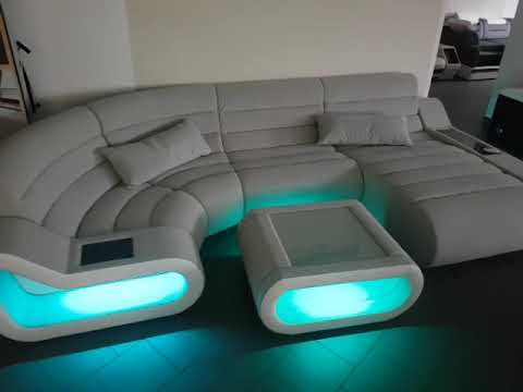 sofa dreams big sofa concept mit led beleuchtung youtube. Black Bedroom Furniture Sets. Home Design Ideas