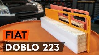 Come sostituire Filtro aria motore FIAT DOBLO Cargo (223) - tutorial